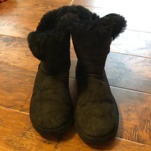 Ugg black bailey button boots
